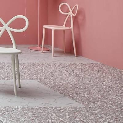 Allura Material 0.55mm - Tiles 50cm x 50cm - Pink Terrazzo