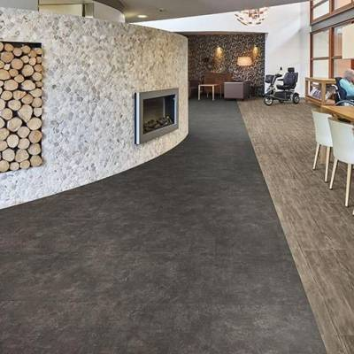 Allura Material 0.70mm - Tiles 50cm x 50cm - Nero Concrete