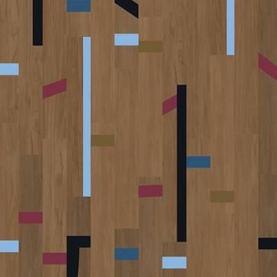 Allura Wood 0.55mm - Planks 100cm x 15cm - Dark Vintage Gymfloor