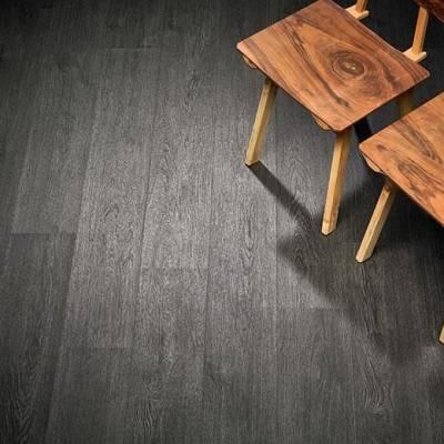 Allura Wood 0.55mm - Planks 120cm x 20cm - Black Rustic Oak