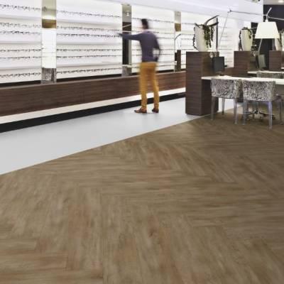 Allura Wood 0.55mm - Planks 120cm x 20cm - Bronzed Oak