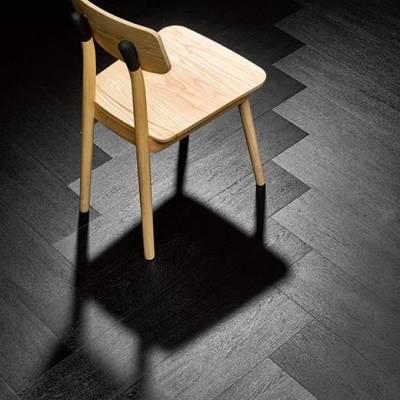 Allura Wood 0.70mm - Planks 100cm x 15cm - Charcoal Solid Oak