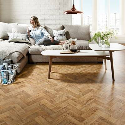 Polyflor Designatex PUR Vinyl - English Oak Parquet
