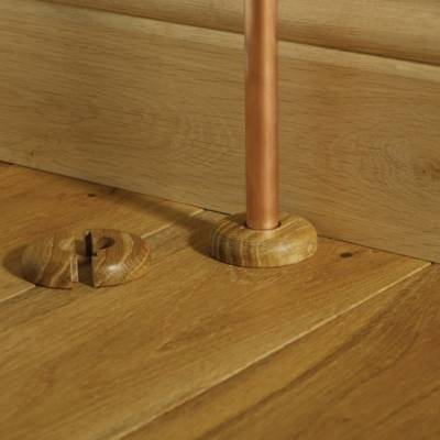 Solid Oak Radiator Pipe Covers (Twin Pack)