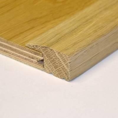 Solid Oak 15mm L-Section (1.10m Long)