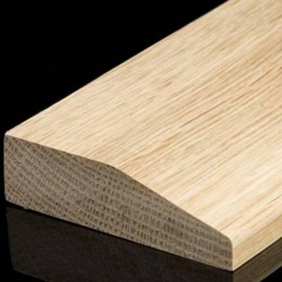 Solid Oak Single Bevelled Bar (2.30m Long)