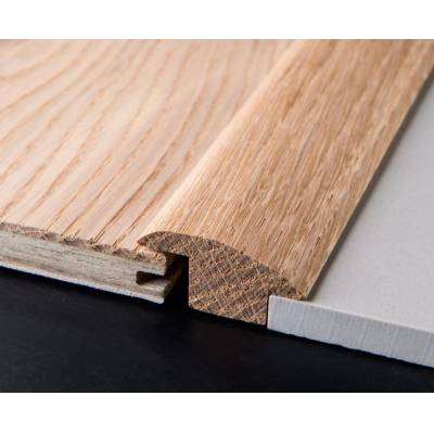 Solid Oak Carpet & Tile Reducer 19mm (1.10m Long)