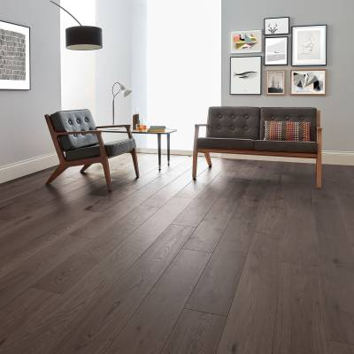 Woodpecker Salcombe Engineered Oak Flooring - Shadow Oak (Brushed & Matt Lacquered)