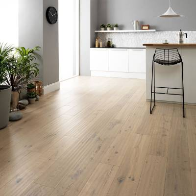 Woodpecker Berkeley Rustic Oak Flooring - 190mm Wide - White Oak (Oiled)