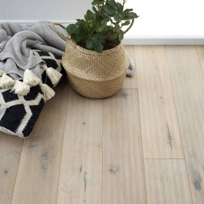 Woodpecker Berkeley Rustic Oak Flooring - 190mm Wide - Grey Oak (Oiled)