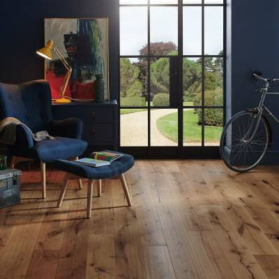 Woodpecker Berkeley Rustic Oak Flooring - 190mm Wide - Smoked Oak (Oiled)