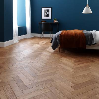 Woodpecker Goodrich Oak Parquet - Coffee Oak (Brushed & Matt Lacquered)
