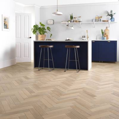 Woodpecker Goodrich Oak Parquet - Ecru Oak (Brushed & Matt Lacquered)
