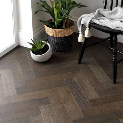 Woodpecker Goodrich Oak Parquet - Espresso Oak (Brushed & Matt Lacquered)