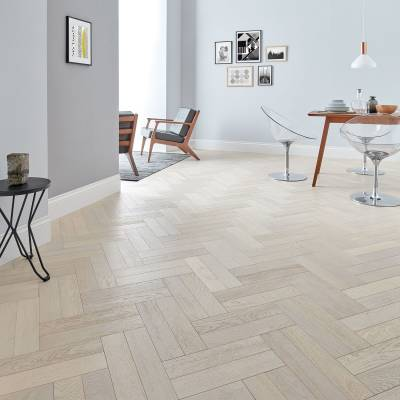 Woodpecker Goodrich Oak Parquet - Whitened Oak (Brushed & Matt Lacquered)