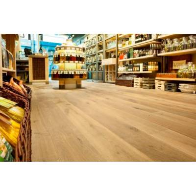 Furlong Flooring Mont Blanc Saw Cut Smoked Brushed & UV Oiled 220mm