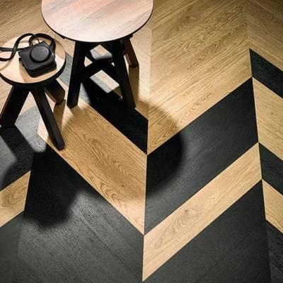 Allura Hungarian Point - 0.70mm - Planks 90cm x 15cm - Charcoal Solid Oak