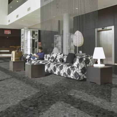 Allura Material 0.55mm - Tiles 100cm x 100cm - Black Marbled Stone