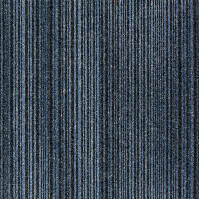 Burmatex Go To Carpet Tiles - Sky Blue Stripe