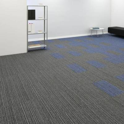 Burmatex Go To Carpet Tiles - Medium Grey Stripe