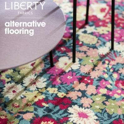 Alternative Flooring Quirky B - Liberty Fabrics Collection - Flowers of Thorpe - Summer Garden