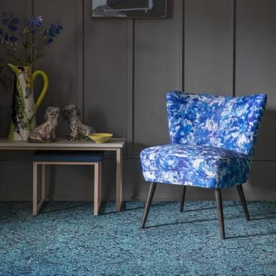 Alternative Flooring Quirky B - Liberty Fabrics Collection - Summer Meadow - Peacock