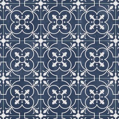 Beauflor Deep Blue Coventry Victorian Tile Vinyl