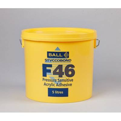 F Ball & Co F46 Pressure Sensitive Vinyl Adhesive 5ltr