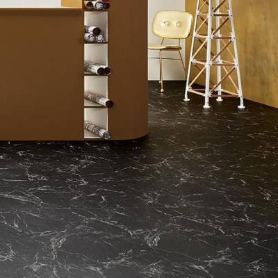 Allura Flex Material Tiles - 50cm x 50cm - Black Marble