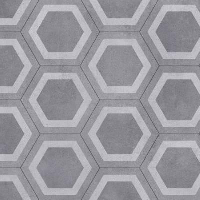 Tarkett Honeycomb Grey Tile Vinyl