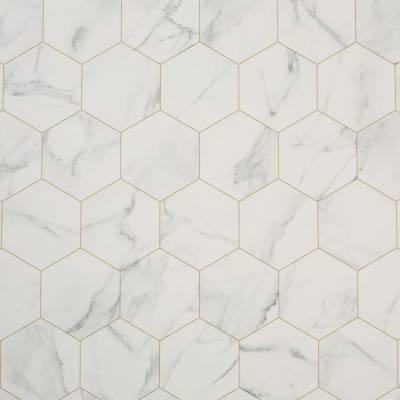 Italian White Marble Tile Vinyl