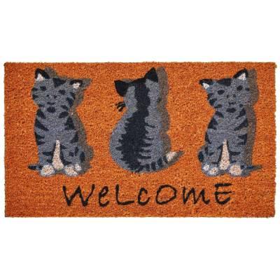 Dandy Welcome Cat Natural Coir Mat (400mm x 700mm)