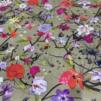 Flotex Vision HD - Botanical Poppy (3.2m x 2m)