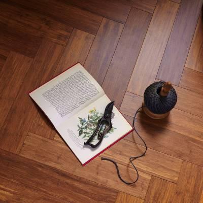 Woodpecker Oxwich Herringbone Bamboo Flooring - Herringbone Coffee Strand