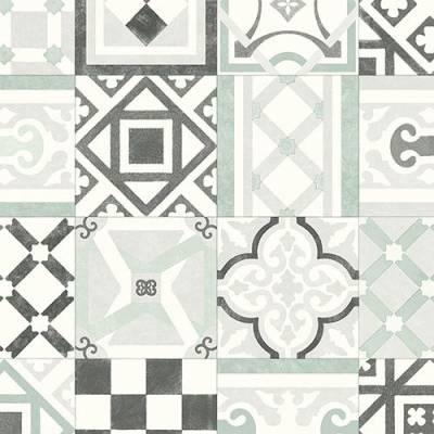 Leoline Rapport Vinyl - ES Vedra Green Tile